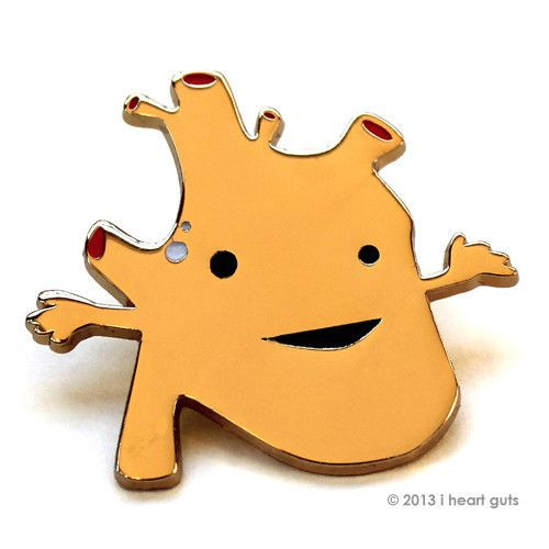 I Heart Guts- Heart of Gold Pin