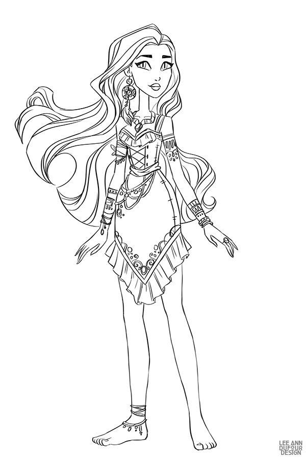 Раскраска Дисней Принцесса Покахонтас | Раскраски ...