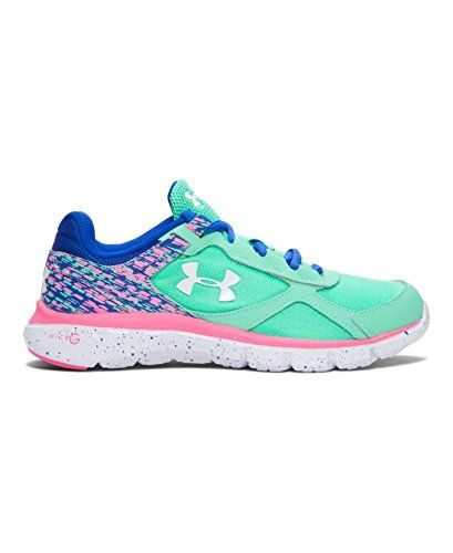 Under Armour Girls' Grade School UA Velocity Graphic Running Shoes 7 Big Kid M ANTIFREEZE