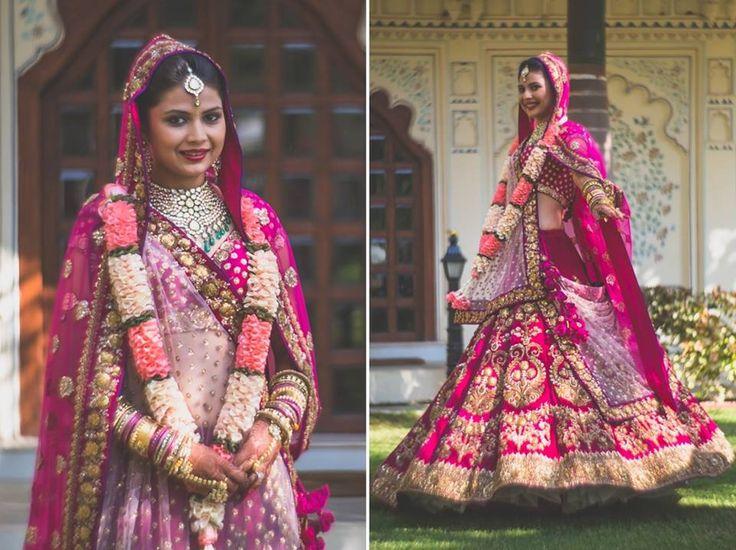 Bride- Mugdha Agarwal Lehenga- Sabyasachi Mukherjee  Photo Courtesy- Raonak Hathiramani