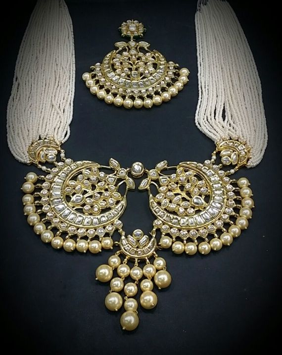 Raani haar with polki necklace