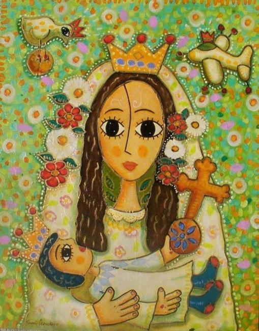Nossa Senhora da Paz...contato ou 31 91465677... (Pintura),  100x80 cm por Ronaldo Mendes Este quadro e uma homenagem a Nossa Sra da Paz
