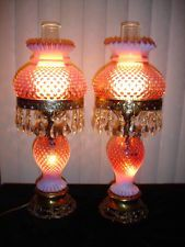 Fenton Cranberry Opalescent hobnail Student lamp GWTW (1-2) Dutch auction