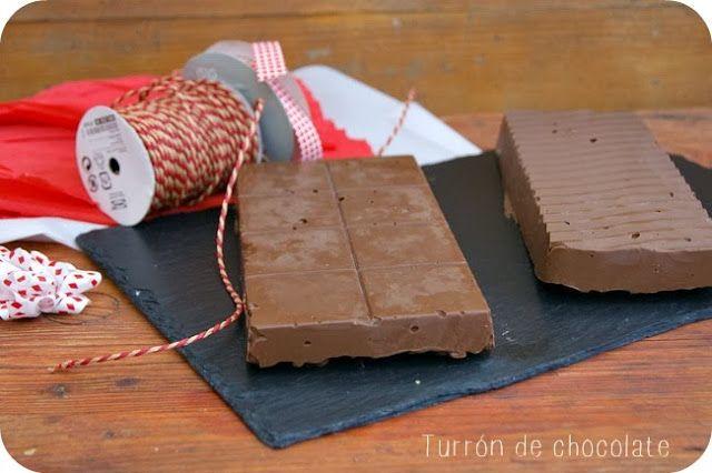 TURRÓN DE CHOCOLATE CON NUTELLA