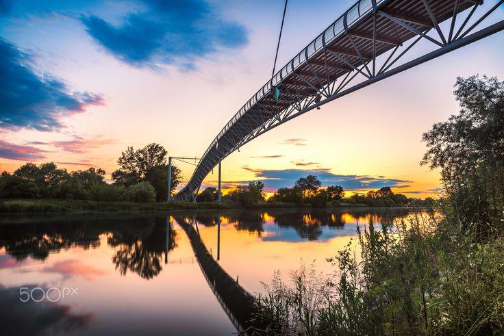 "Chuck Norris Bridge in sunset II | Bratislava - ""Cycling ..."