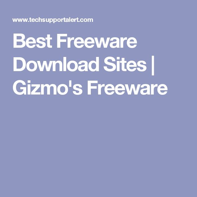 Best Freeware Download Sites | Gizmo's Freeware