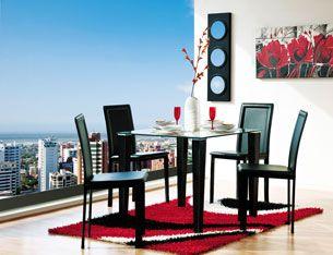 para una familia pequea o apartamento de soltero juego de comedor moderno arturo