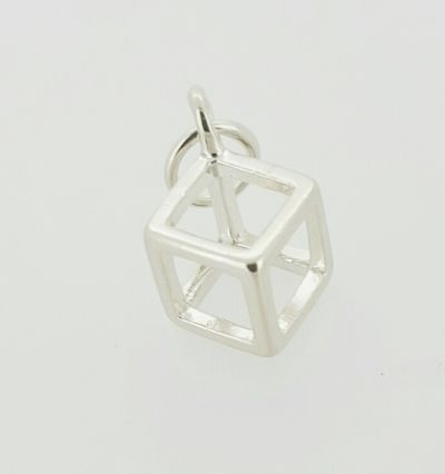 Pendant - CUBE - Sterling Silver or 9ct Gold