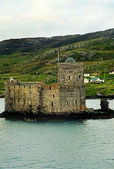 "Kisimul Castle and also known as Kiessimul Castle, is a small medieval castle located on a small island off Castlebay, Barra, in the Outer Hebrides, Scotland. It gets its name from the Gaelic cìosamul meaning ""castle island""."