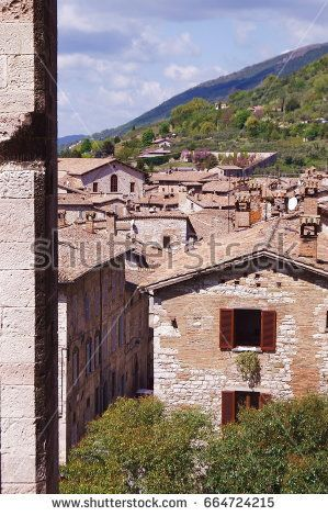 View of Gubbio from Palazzo Ducale, Umbria, Italy
