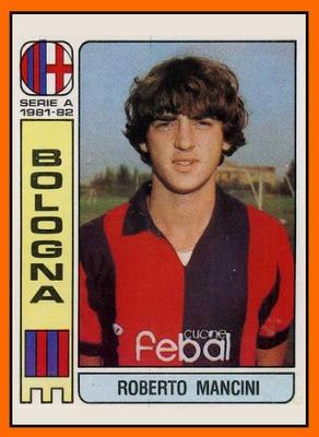 #Figuritas Roberto Mancini (con mucha porra) Bologna 1981.