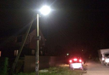 В микрорайонах Востряково и Центральный восстановили уличное освещение