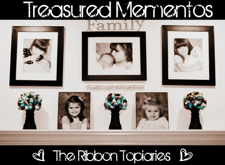 FB: Treasured Mementos- Ribbon Topiaries: Ribbon Topiary, Ribbons Topiaries