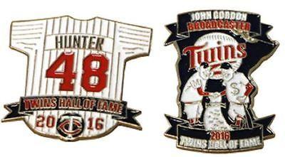 2016 Minnesota Twins Torii Hunter/John Gordon HOF Pin SGA
