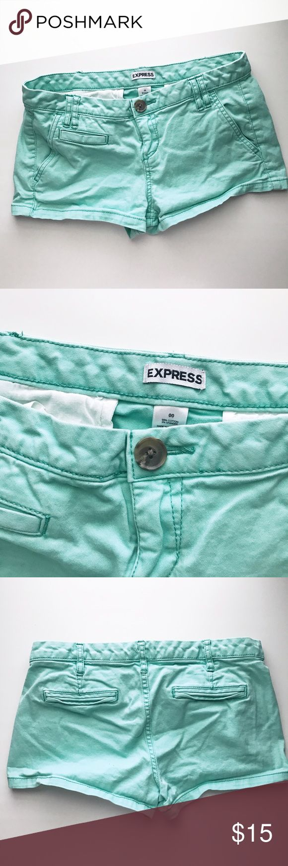 Express Aqua Shorts brand new without tag  excellent condition Express Shorts Jean Shorts