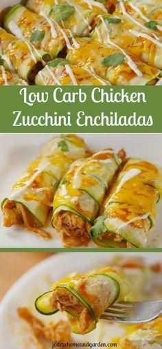 Low-carb Chicken Zucchini Enchilada | Amanda Kitchen #chicken #chickenrecipes #l…