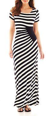 Trulli short-sleeve side-ruched maxi dress