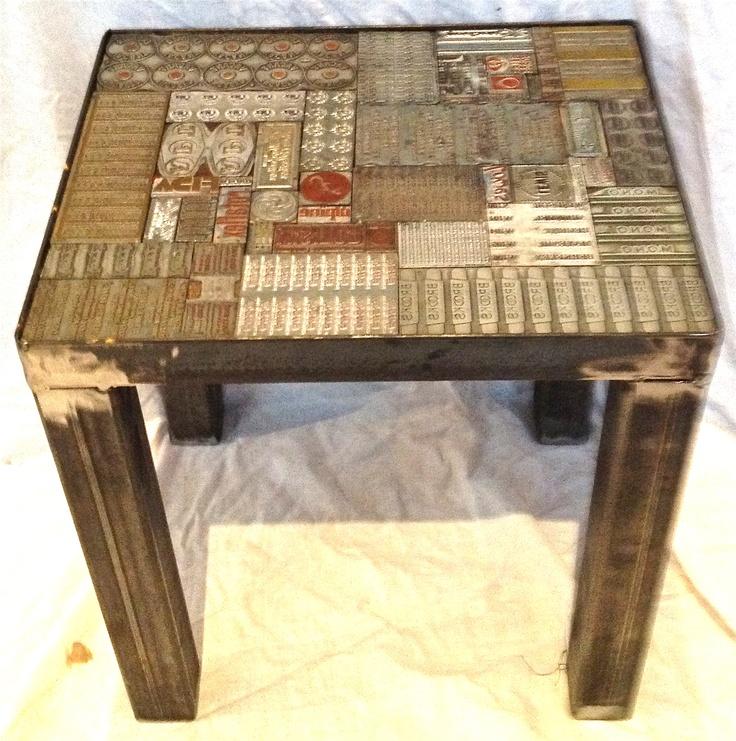 Vintage Printing Block tables