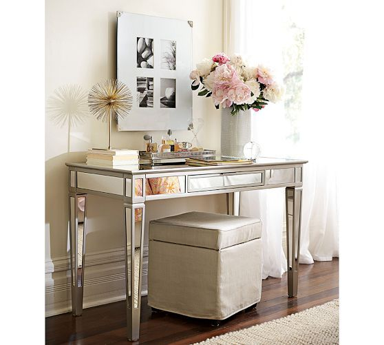 Park Mirrored Desk Pottery Barn Wish List For The Home