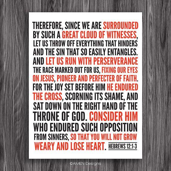 Hebrews 12:1-3. Fix Our Eyes On Jesus.