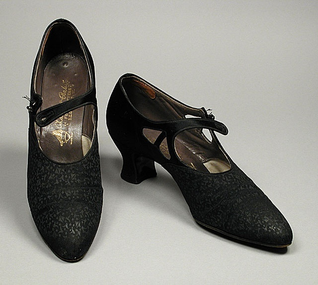 Pair Of Woman S Bar Shoes Charles N Accessories Silk Satin Leather 11 X 3 4 In