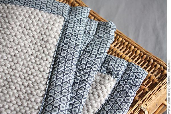 pour mes jolis mômes, mais pas que...: Baby blanket tricot / tissu (DIY)