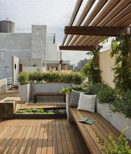 Terrasse sur les toits.