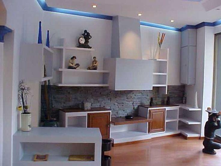 Muebles De Escayola Para El Salon Interesting Salon Moderno Con Luz - Muebles-de-mamposteria-de-salon