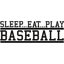 @Overstock - This beautiful vinyl applique applies to smooth surfaces like walls, glass and tile. Great for home, office, or as a gift, this easy-to-apply wall art adds interest to any decor.http://www.overstock.com/Home-Garden/Decorative-Sleep-Eat-Play-Baseball-Vinyl-Wall-Art/5724544/product.html?CID=214117 $32.79