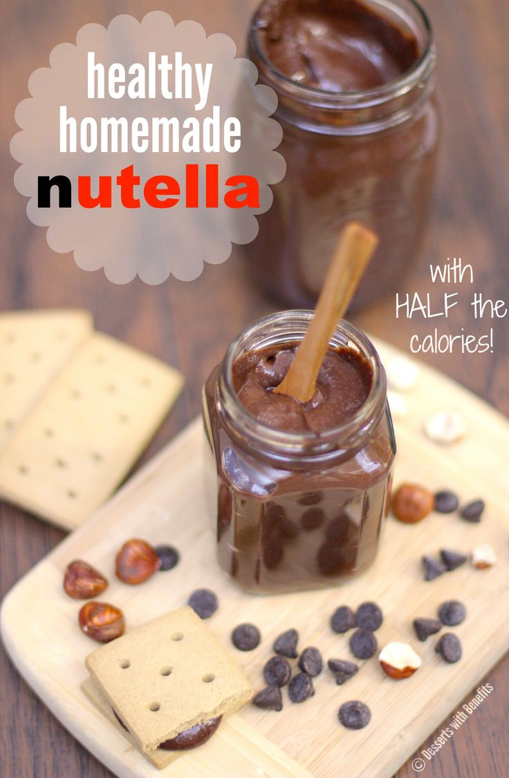 Healthy Homemade Nutella (sugar free, low fat, low calorie, gluten free, dairy free, vegan) - Healthy Dessert Recipes at Desserts with Benefits