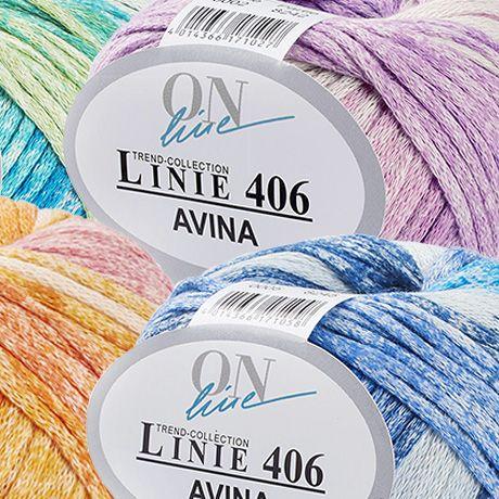 Rundeffektgarn mit raffiniertem Vintage-Druck – Linie 406 Avina von ONline