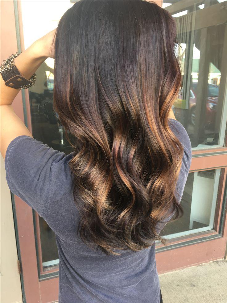 dark brunette caramel balayage winter hair bigger the. Black Bedroom Furniture Sets. Home Design Ideas