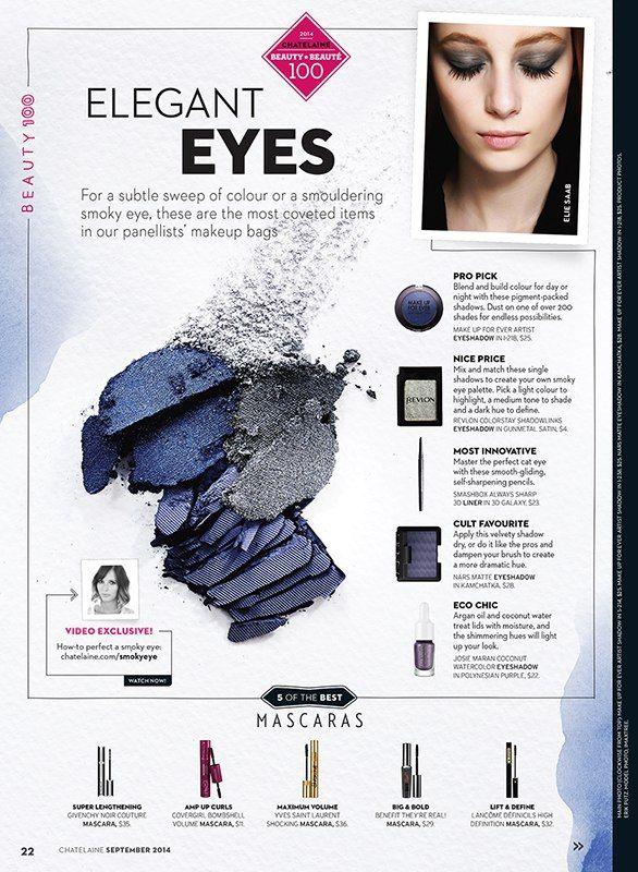 Suzy Johnston + Associates   Natasha V. for Chatelaine Magazine's September Issue #cosmetics #beauty #makeup #eyeshadow #ChatelaineMagazine