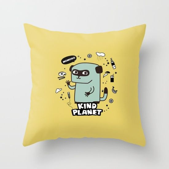 KIND PLANET Throw Pillow