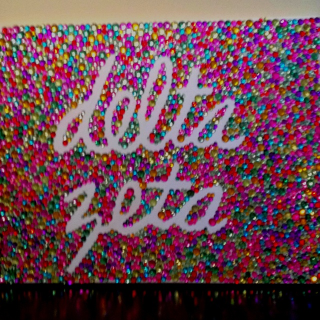 Delta Zeta canvas in jewels... might take a lot of time but i may make this! maybe even for a future kiddo!!