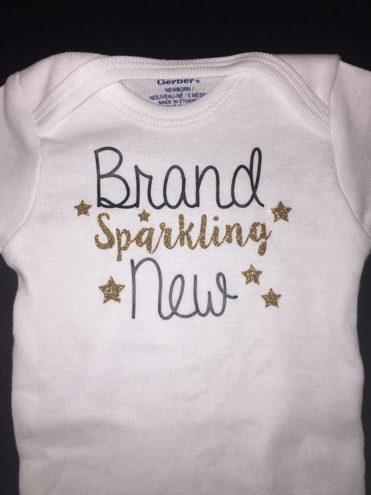 The 28 best custom shirts and onesies images on pinterest decal brand sparkling new baby onesie perfect baby shower gift https negle Image collections