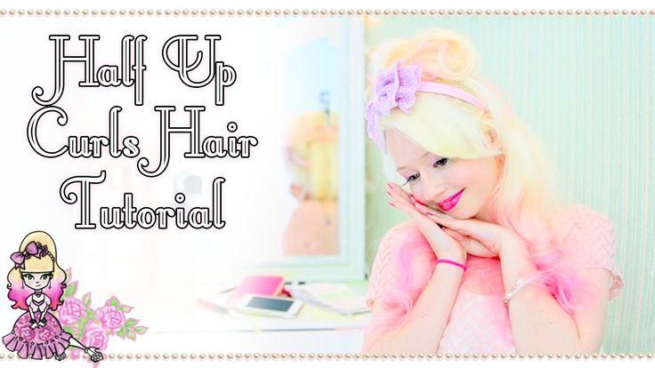 Half Up Curls - Hair Tutorial - Violet LeBeaux