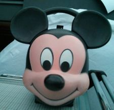 Collectible Vintage Disney Mickey Mouse Head Aladdin Lunch Box
