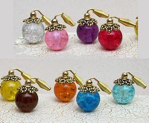 GLASS ATOMISER PERFUME BOTTLE ~ Dolls House or Perfume Shop ~ CHOOSE YOUR COLOUR