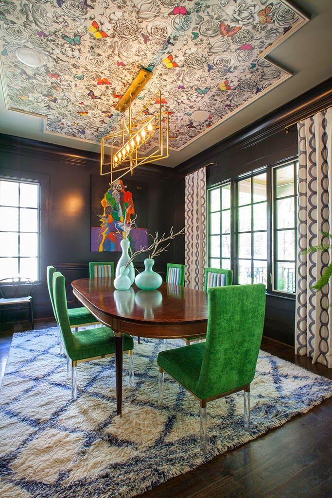 Best 25+ Wallpaper ceiling ideas on Pinterest | Wallpapering a kitchen ceiling, Gold wallpaper ...