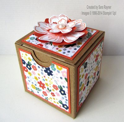 Tiny treat box decorated, using supplies from Stampin' Up! www.craftingandstamping.com #stampinup