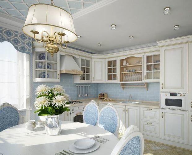 Интерьер кухни в стиле прованс: фото идеи дизайна, выбор отделки, мебели, посуды и аксессуаров. Как правильно подобрать обои в стиле прованс. Освещение – как одна из главных черт стиля.