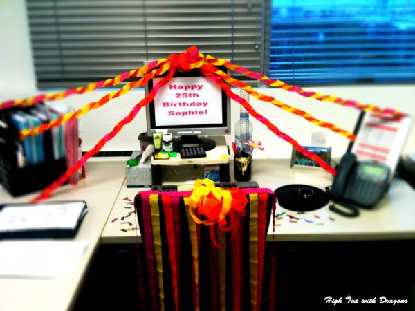 ... birthday decorations, Office birthday and Office party decorations