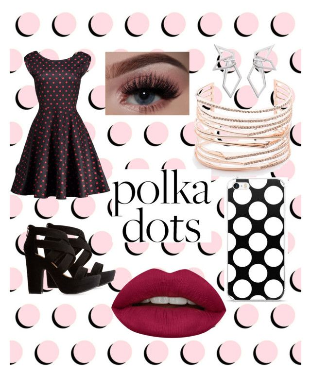 """POLKA DOTS"" by just-some-meme ❤ liked on Polyvore featuring Bamboo, Alexis Bittar, W. Britt and Huda Beauty"