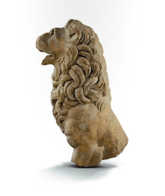 A statue of a lion, Greek 3rd century B.C.