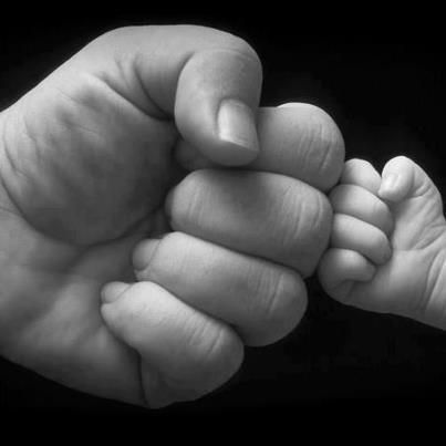 Fist Bump Dad and Baby.