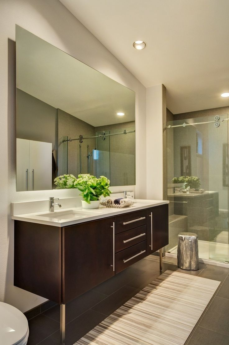 modern bathroom and sink hollcroft residence - Bathroom Ideas Brown Cream