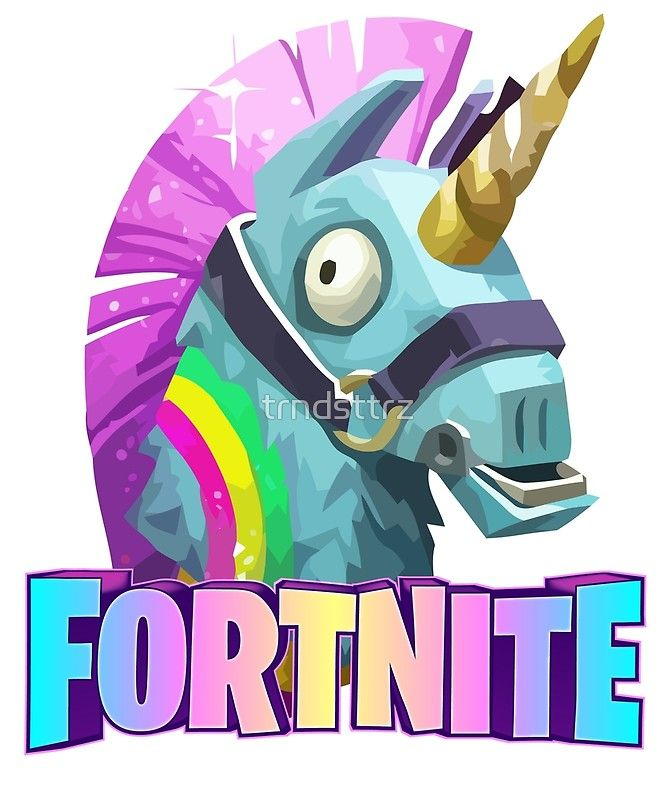 fortnite battle royale unicorn posters by trndsttrz redbubble - fortnite posters walmart
