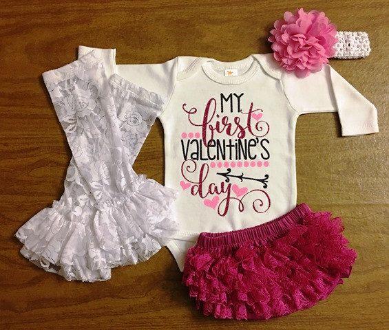 Newborn Valentines Day Outfit Newborn Girl by KeepsakeKonnections