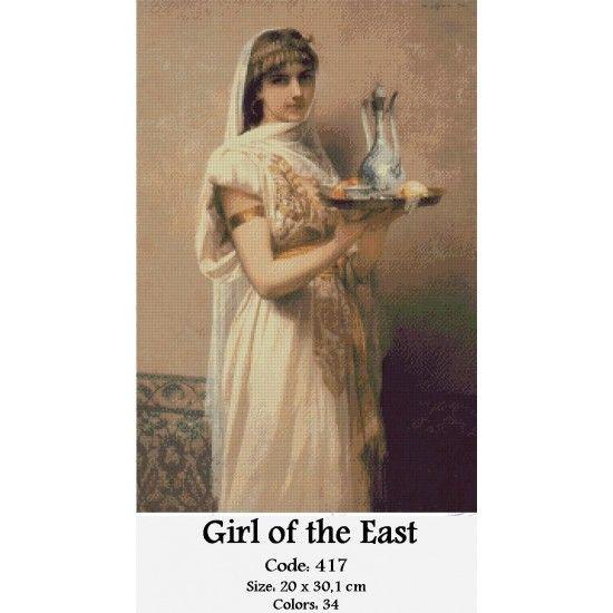 CrossSttich Kit Girl of the East http://gobelins-tapestry.com/portraits/864-girl-of-the-east.html